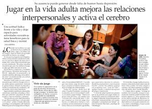 Jugar en la vida adulta mejora las relaciones interpersonales y activa el cerebro