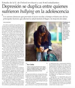 Depresión se duplica entre quienes sufrieron bullying en la adolescencia