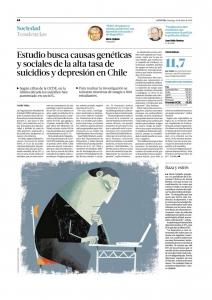 Estudio busca causas genéticas y sociales de la alta tasa de suicidios y depresión en Chile