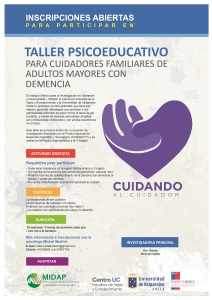 AFICHE TALLER DE CUIDADORES